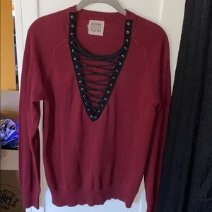 NWOT Furst of a kind cross sweater